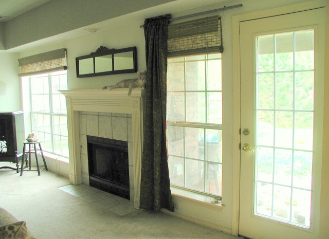 Living Room Wall with fireplace