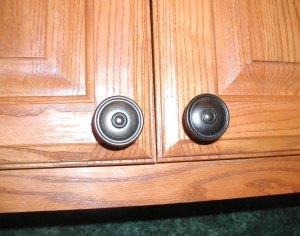 installed cabinet pulls