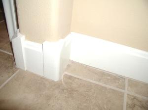 rounded corner base molding