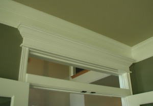 French doors with transom and molding