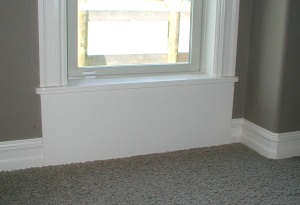 window bottom molding