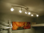 laundry room new track lighting on ceiling and photo canvas