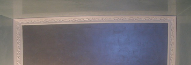 venetian plaster shows reflection on surface