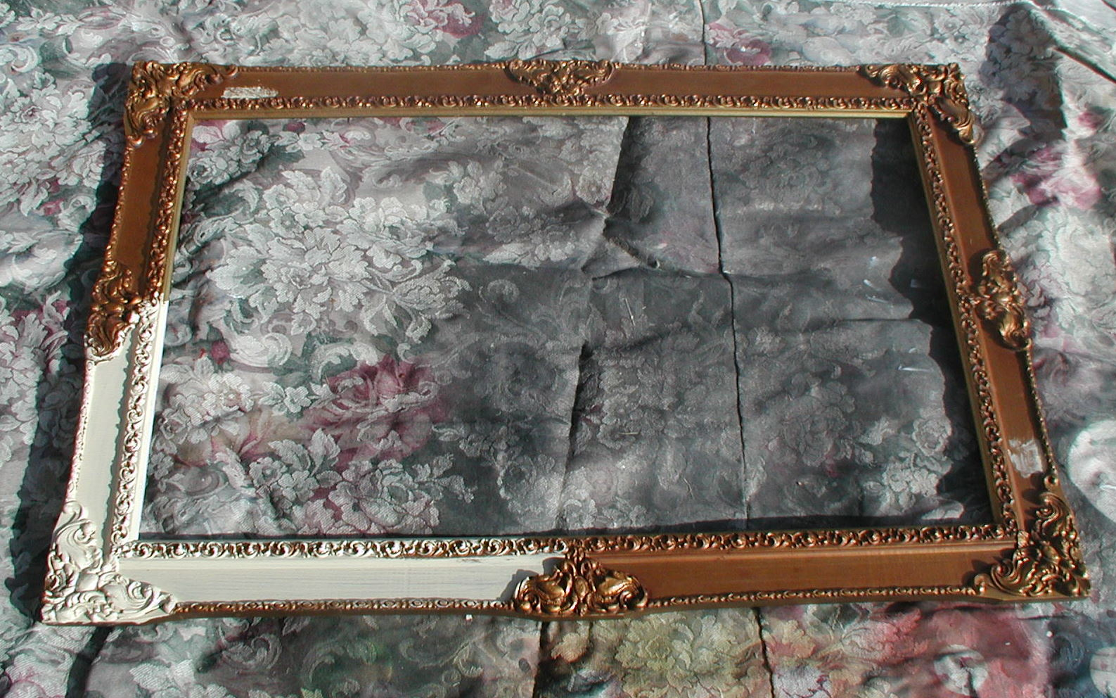 Project: silver foiling a mirror frame – Front Porch Cozy