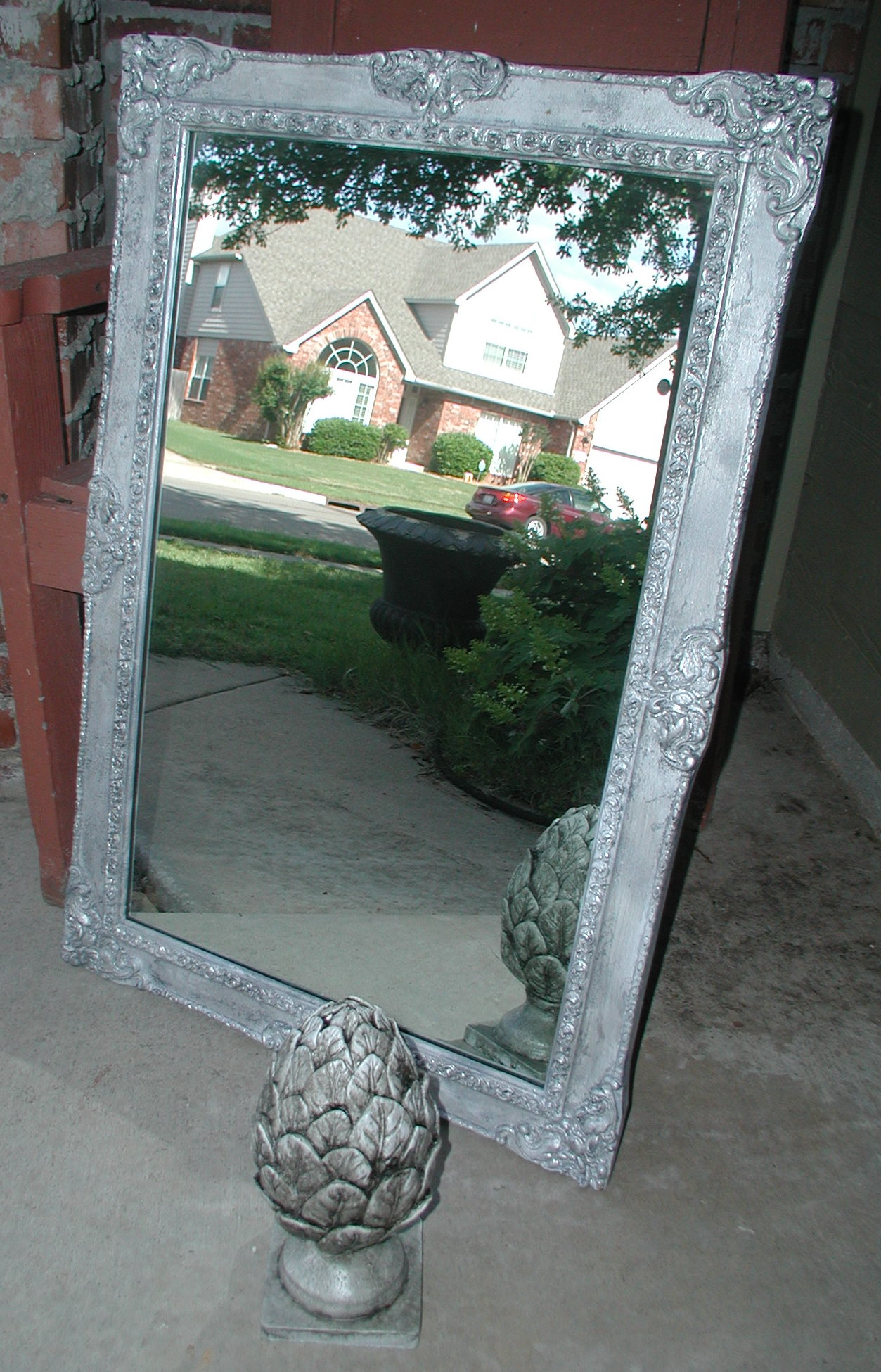 Mirror Frames For Bathrooms: Project: Silver Foiling A Mirror Frame