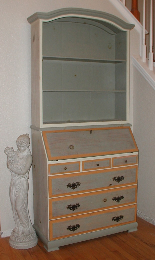 Build secretary desk with hutch plans diy pdf deck for Wood hutch plans