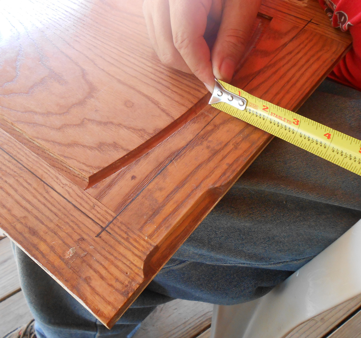 The Guide Board Is Measured At Both Ends To Match The Router Edge To . Full resolution  snapshot, nominally Width 1244 Height 1167 pixels, snapshot with #AB3820.