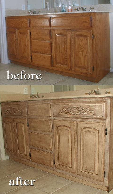 Kitchen Cabinets With Homemade Chalk Paint