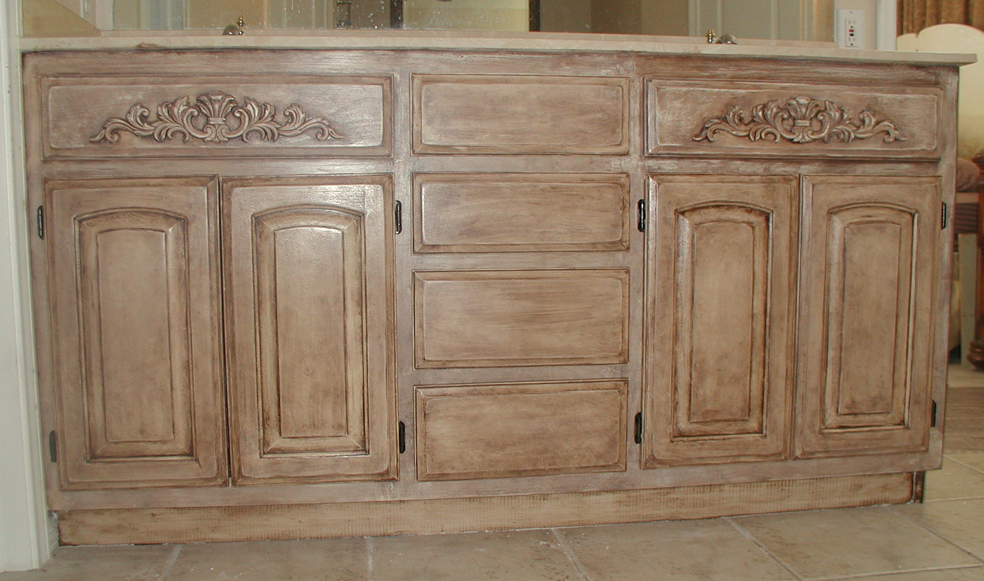 project transforming builder grade cabinets to old world ascp old