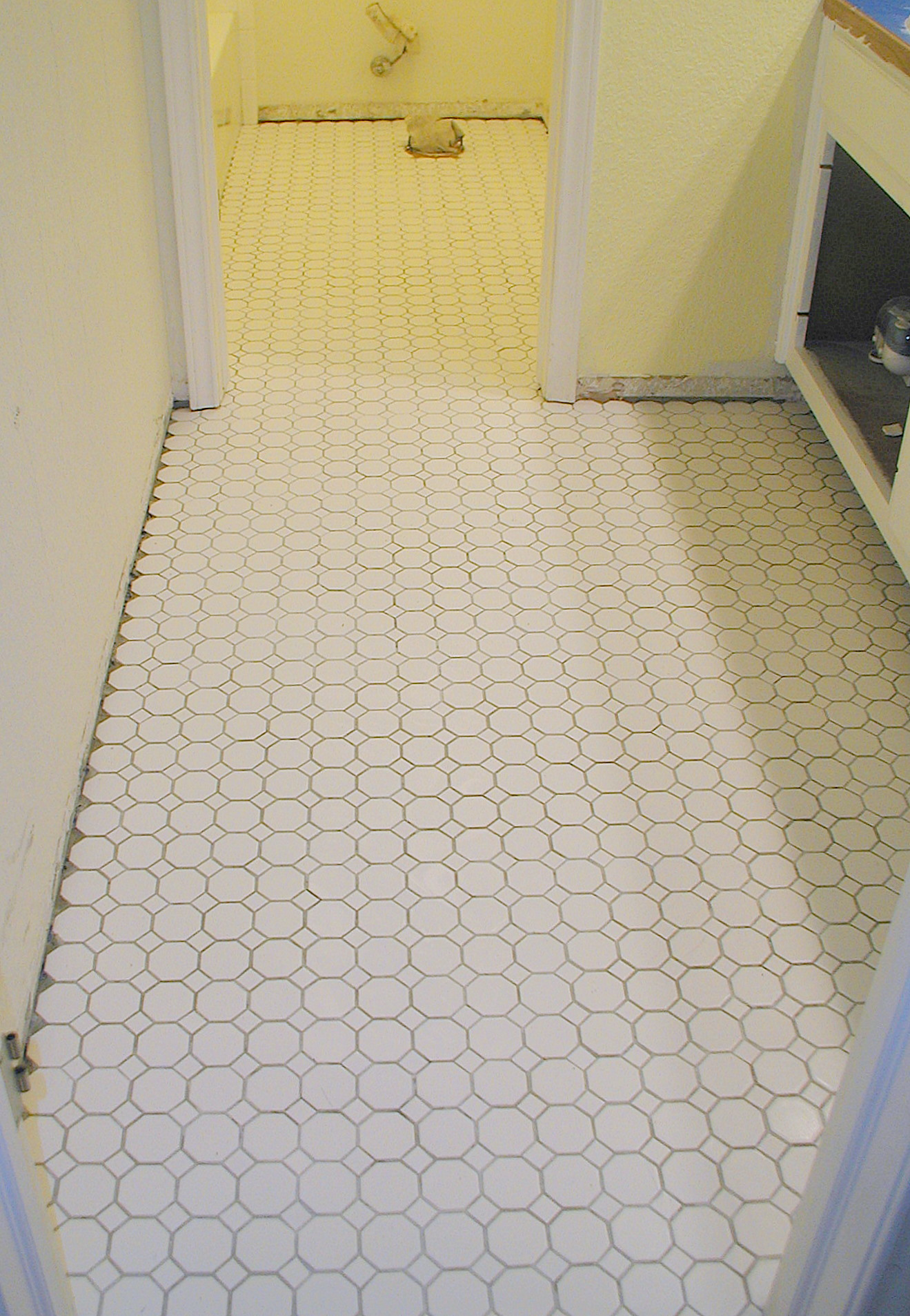 Project tiling the bathroom floor front porch cozy for Flooring tiles for bathroom