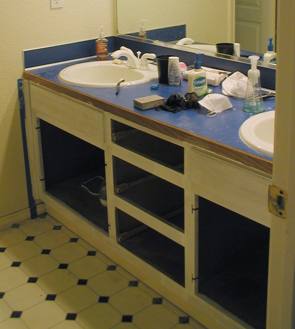 Project: bathroom vanity with laminate over laminate | Simply
