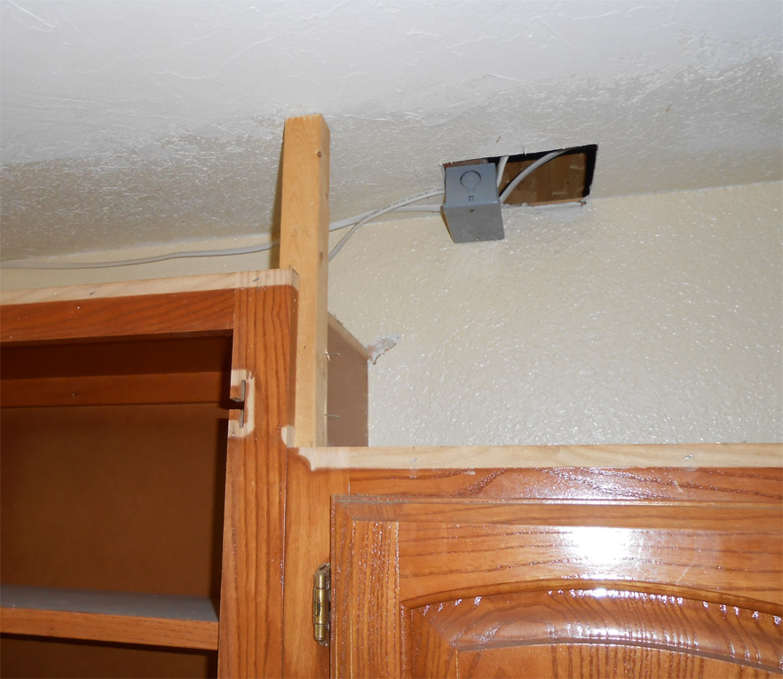Kitchen Cabinets That Hang From The Ceiling: Project: Making An Upper Wall Cabinet Taller (kitchen