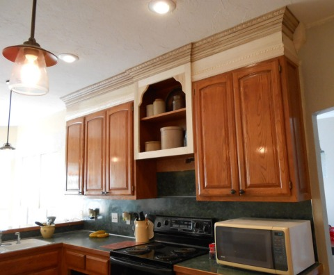 Project making an upper wall cabinet taller kitchen simply rooms by design - Factory seconds kitchen cabinets ...