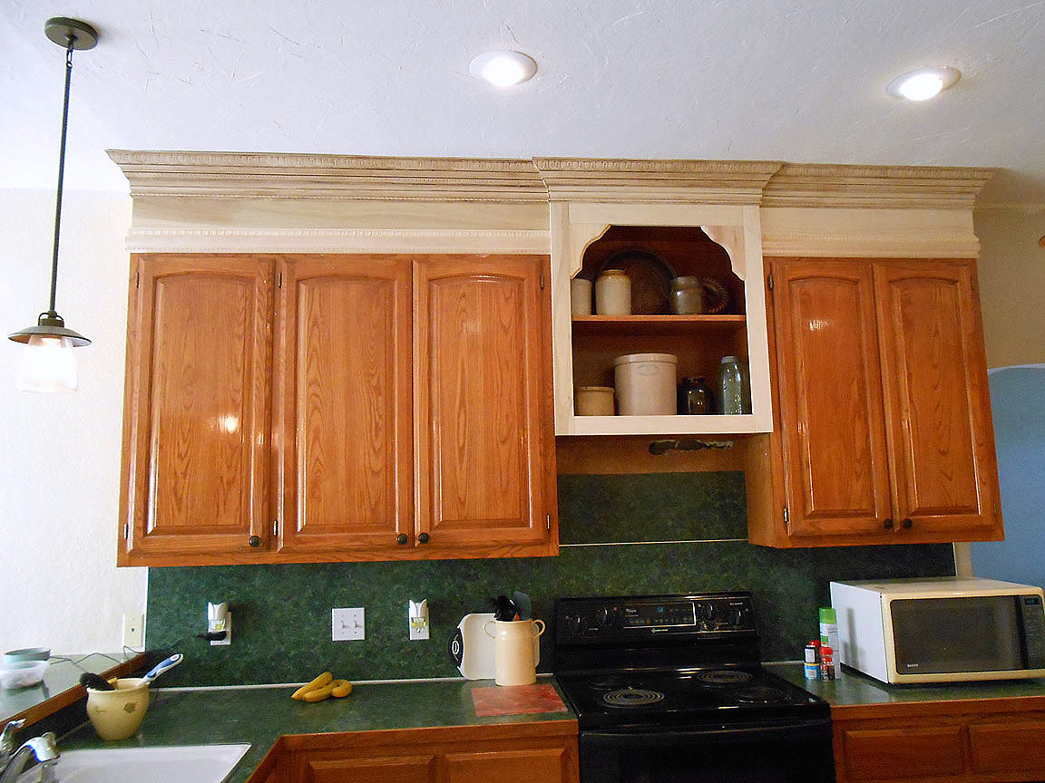 Project making an upper wall cabinet taller kitchen for Kitchen cabinets