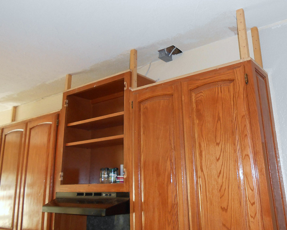 project making an upper wall cabinet taller kitchen