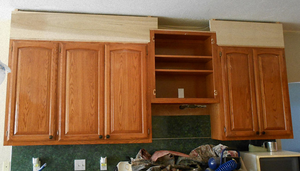 Because The Gap Between Cabinets ...
