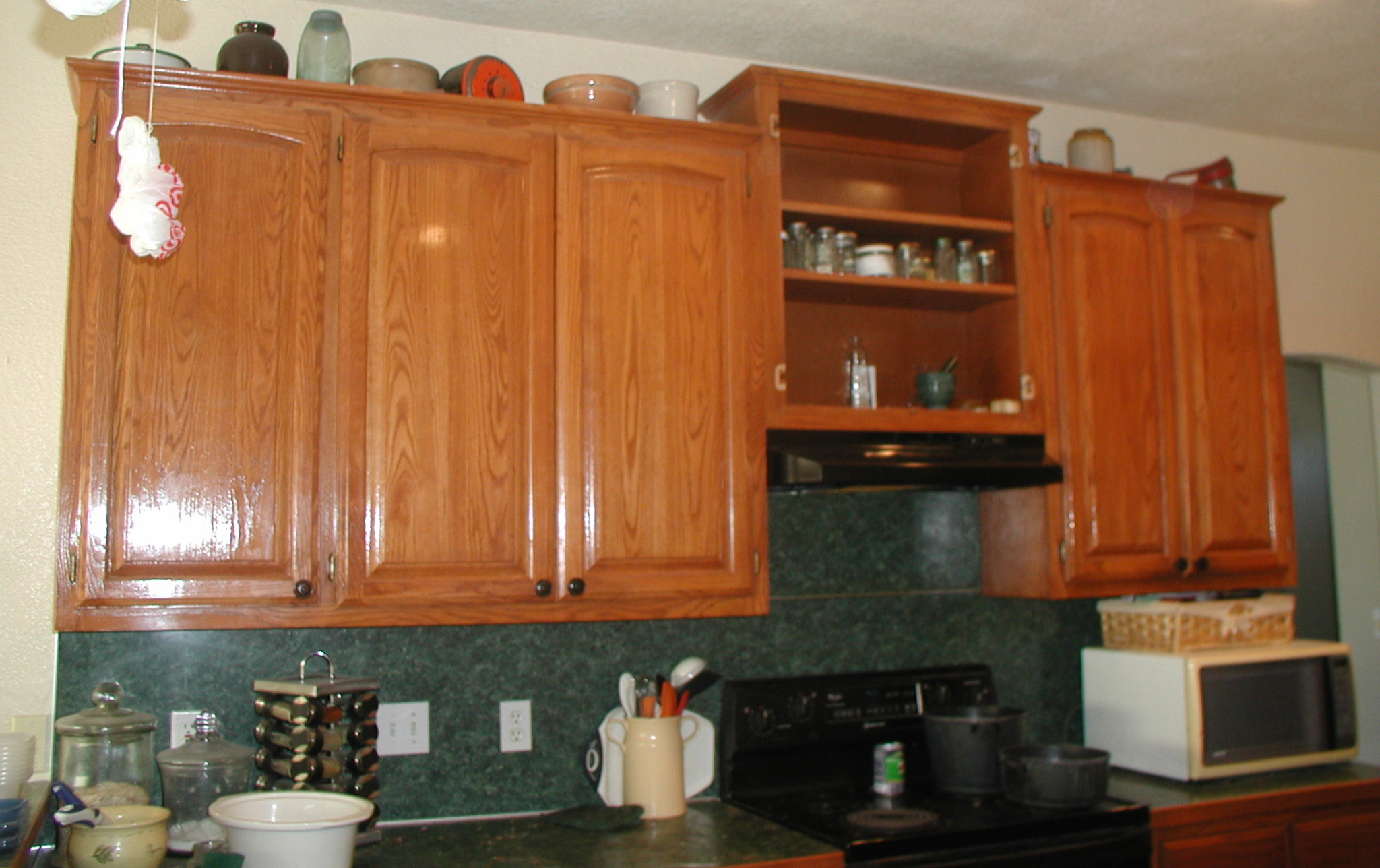 Project making an upper wall cabinet taller kitchen for Upper kitchen cabinets
