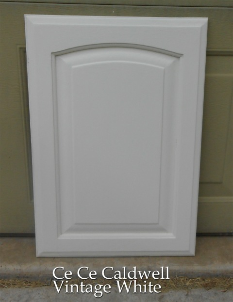 Kitchen S Final Test Cabinet Door Using Chalk Paint Simply Rooms By Design