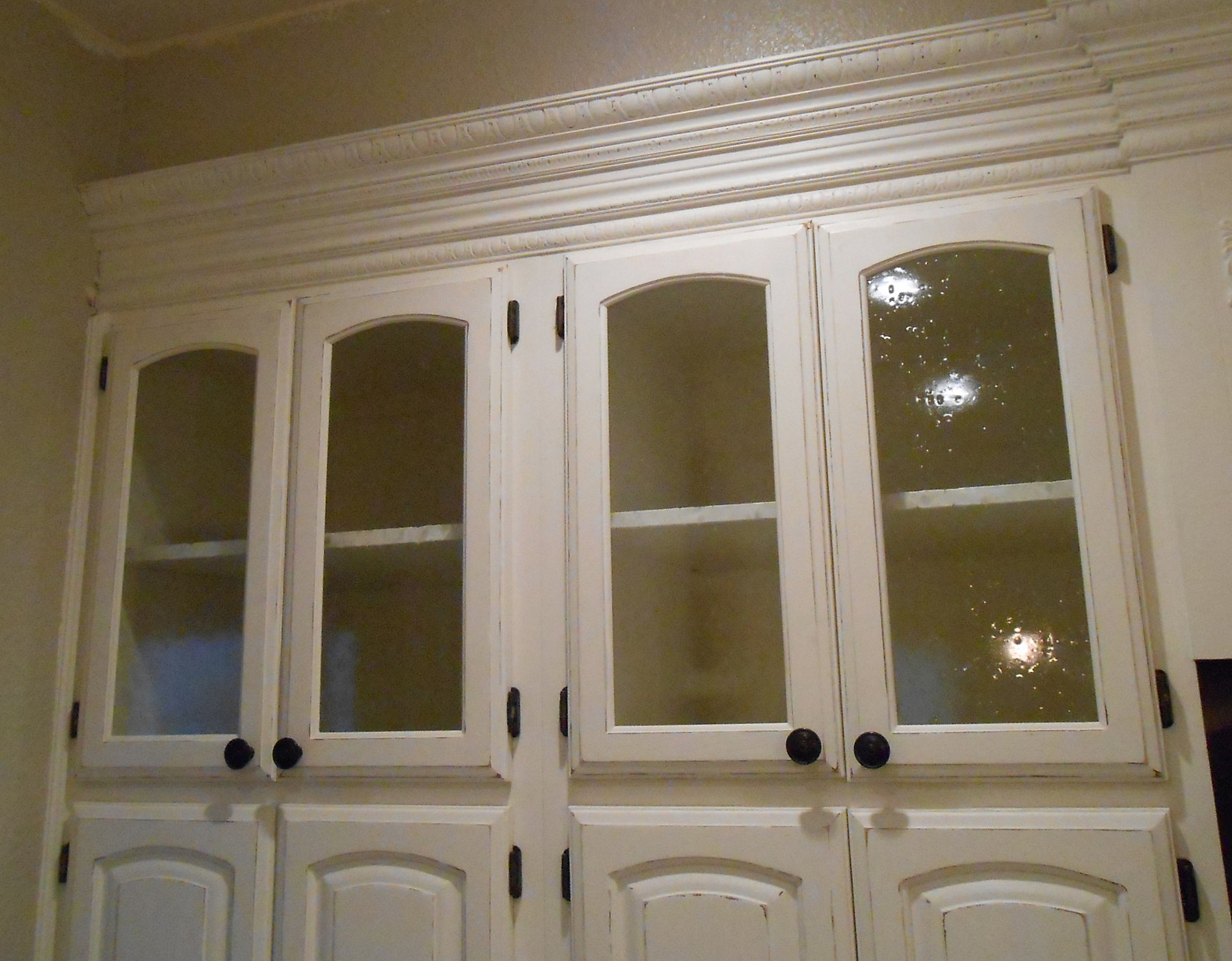 Glass Cabinet Doors : Diy changing solid cabinet doors to glass inserts simply