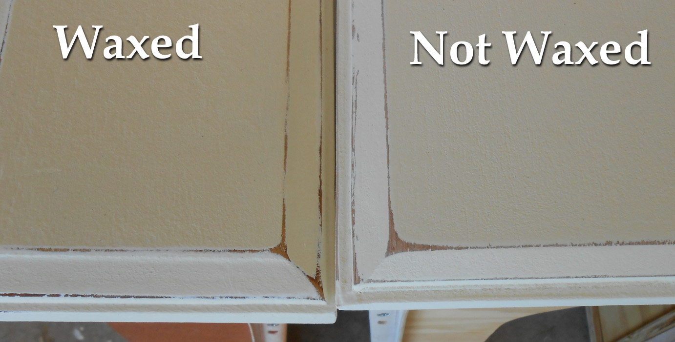 Waxing Painted Kitchen Cabinets