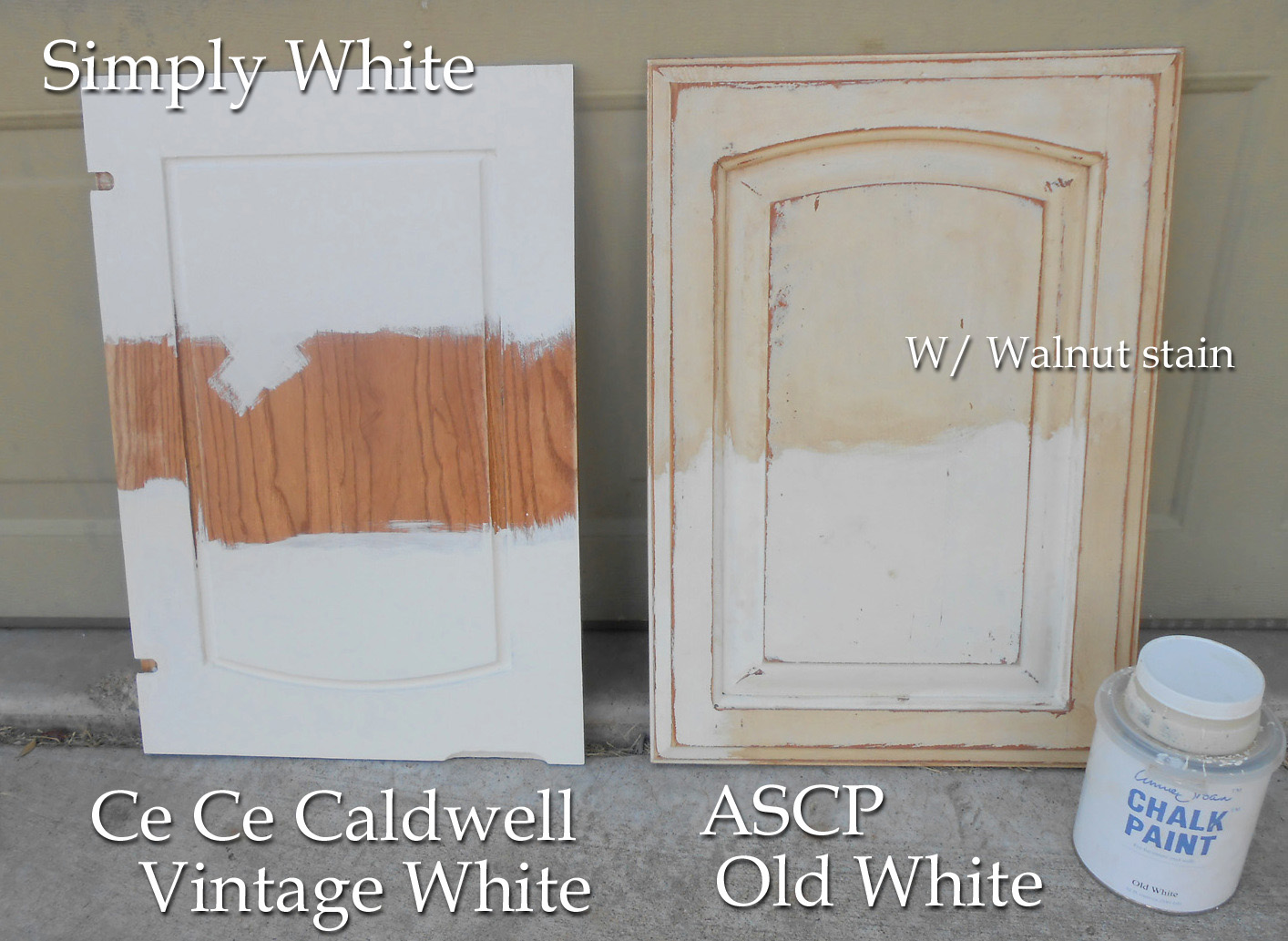 Using chalk paint for oak kitchen cabinets test door for Can i paint kitchen cabinets with chalk paint