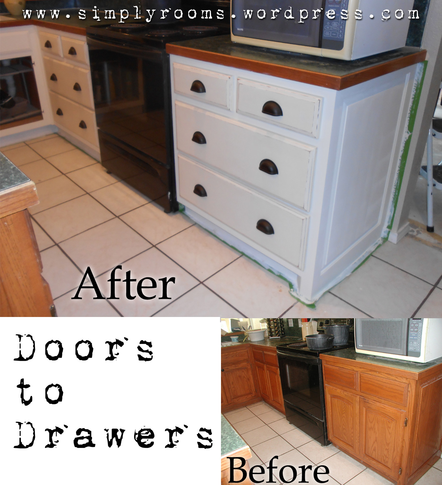 Kitchen Cabinet Door Painting: Painting Oak Kitchen Cabinetry With Chalk Paint (drawers
