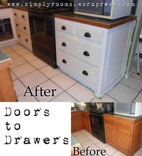 Painting Oak Kitchen Cabinetry With Chalk Paint (drawers