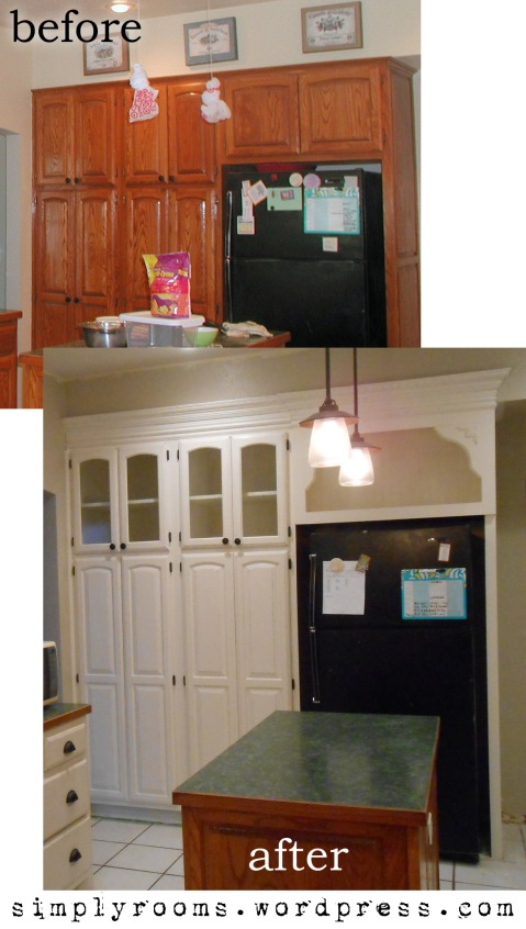 DIY Changing Solid Cabinet Doors to Glass Inserts | Simply ...
