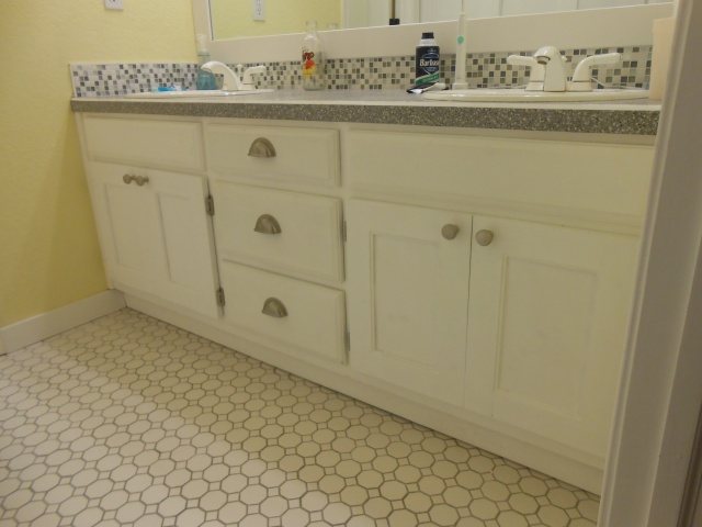 kids bathroom sink cabinet after