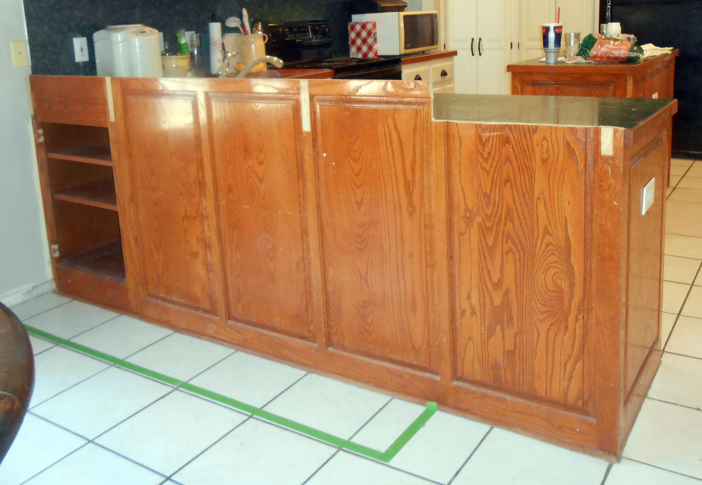 Kitchen Breakfast Bar Converted To Shelf Unit Front