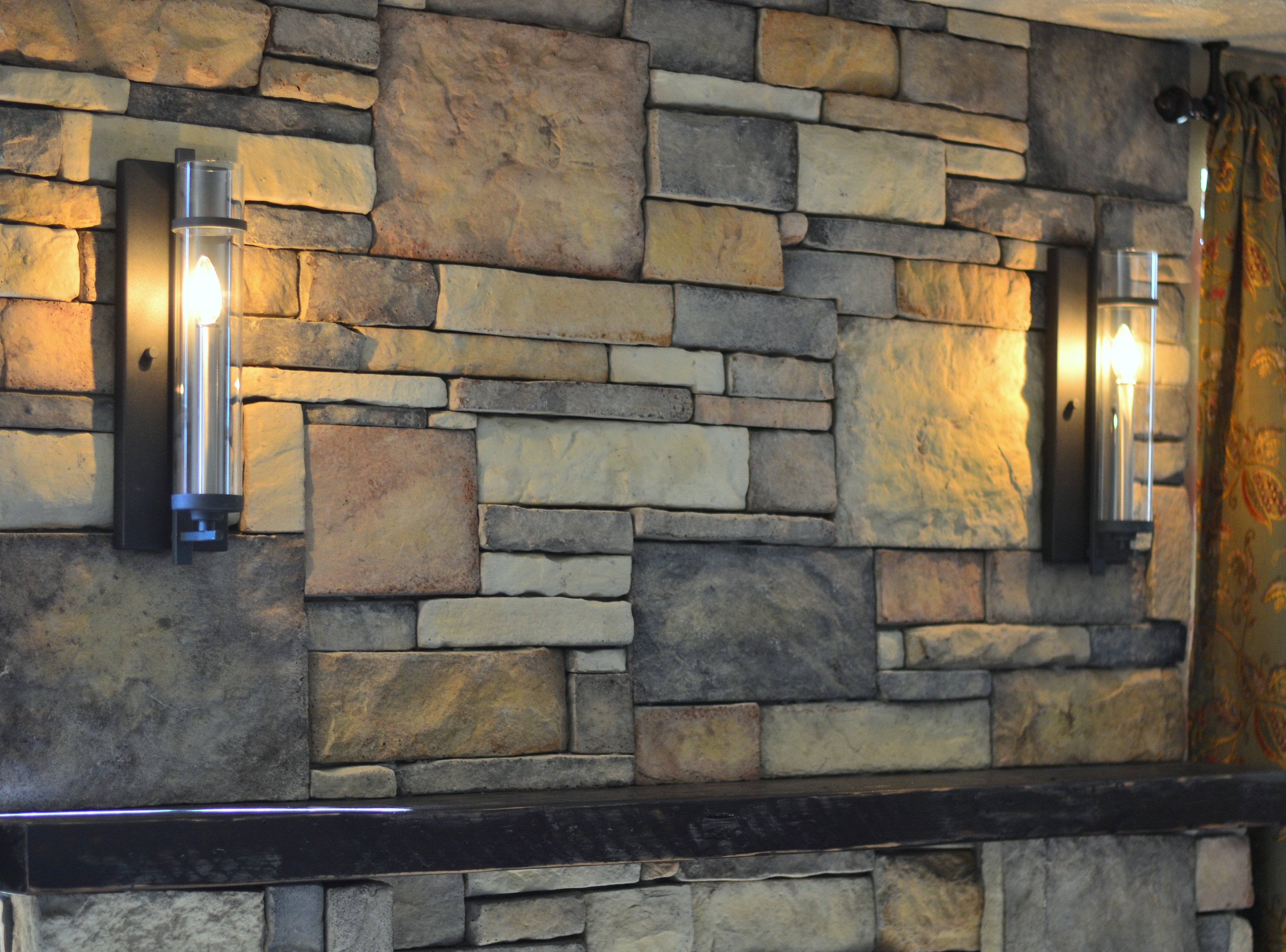 Wall Sconces For Fireplace : living room Front Porch Cozy