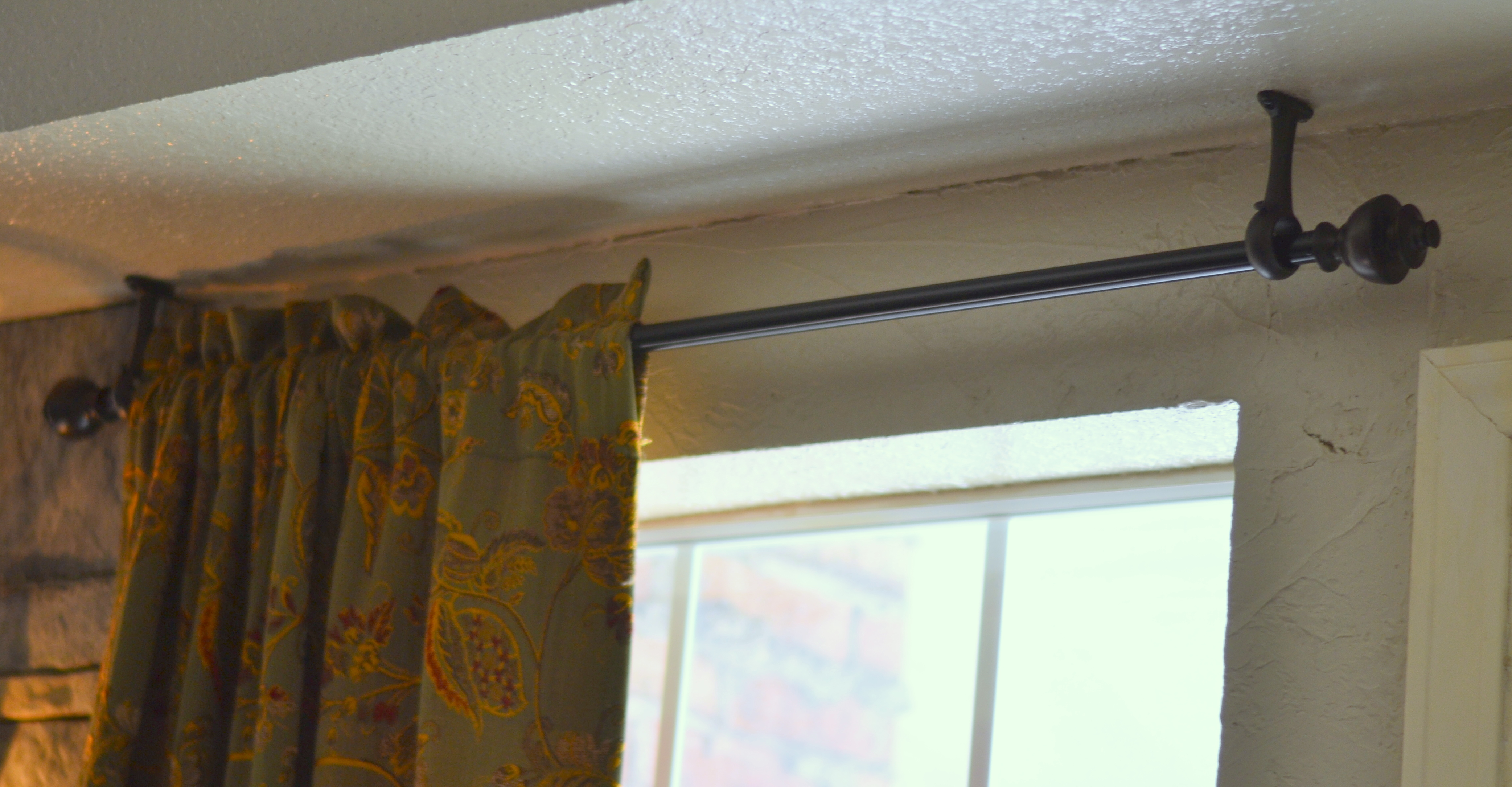 Using curtain rods in tight places – Front Porch Cozy for Curtain Rod Brackets For Corners  584dqh