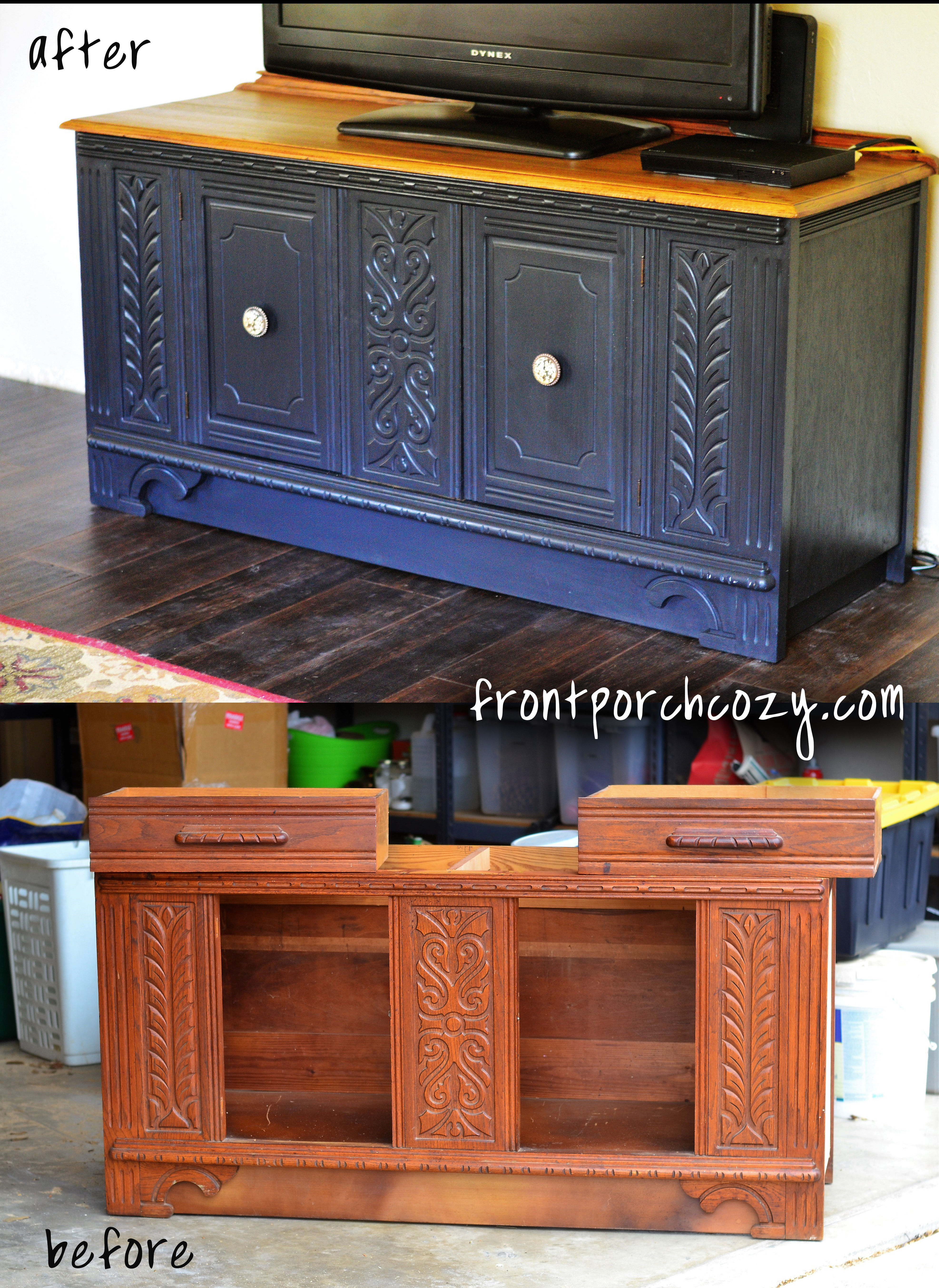 television media stand from vintage sideboard part 3